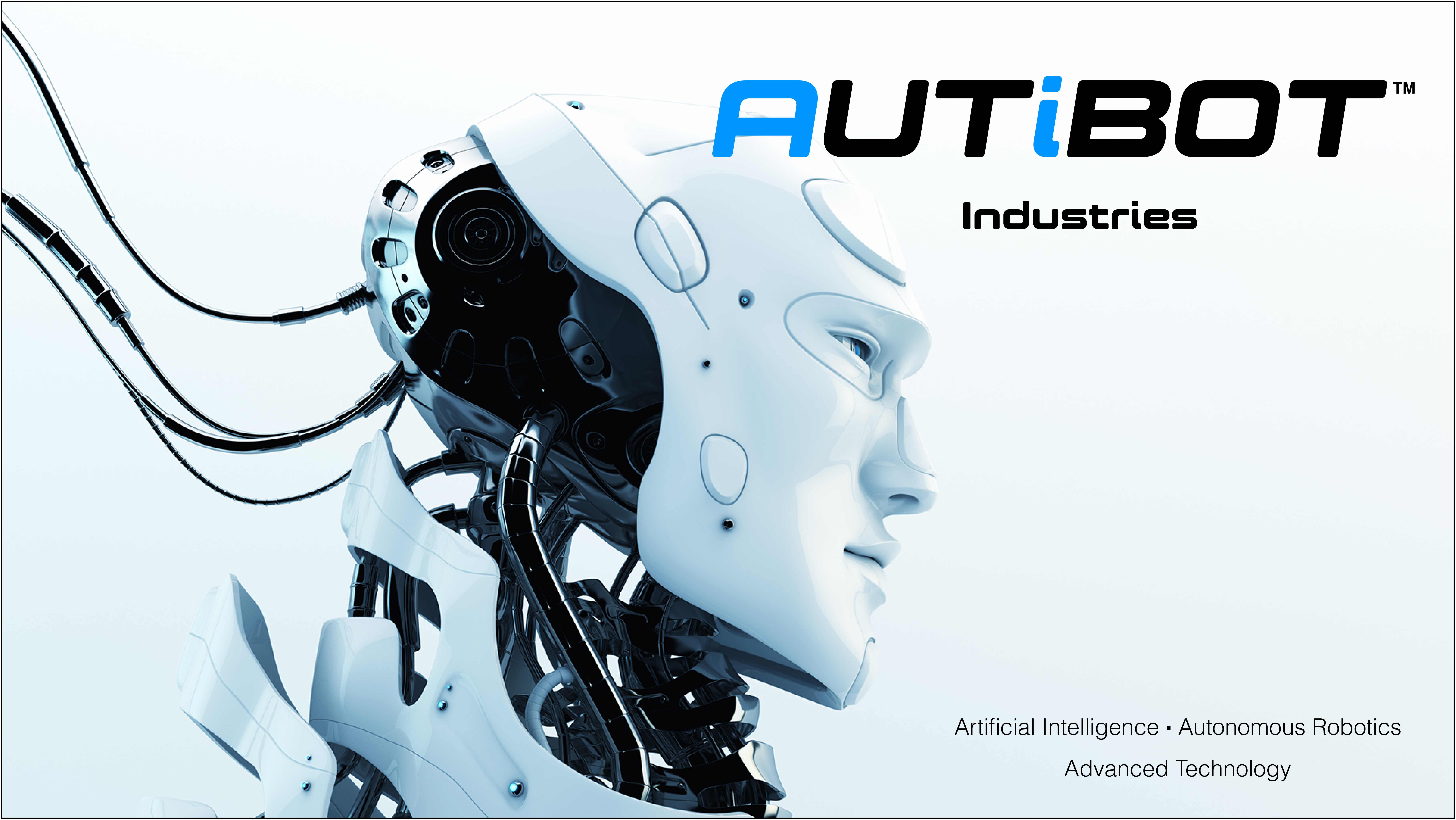 Image of Autibot Logo for business name Autibot that can be used for a robotics company startup with domain name Autibot.com